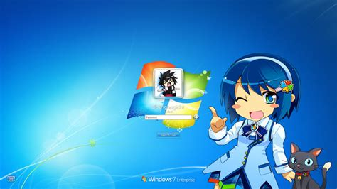 anime computer themes windows 7 anime themed windows 7 login by okamizero on deviantart