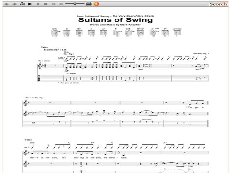sultan of swing tab sultans of swing chords