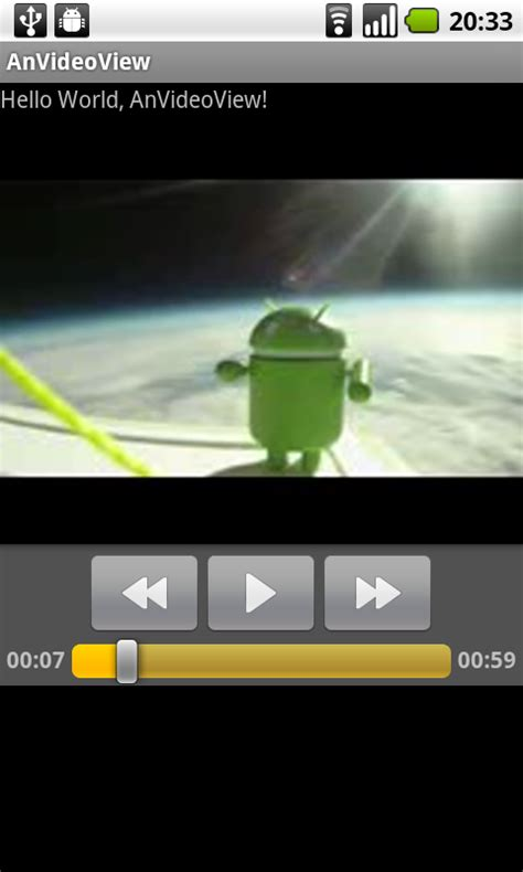 android videoview android coding a simple exle using videoview to play from