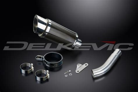 swing arm delkevic mini 200mm round carbon fibre silencer to fit sprint 955i