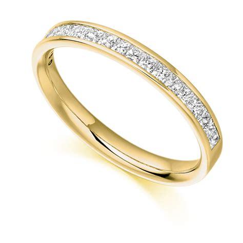 0 50ct princess cut half eternity ring