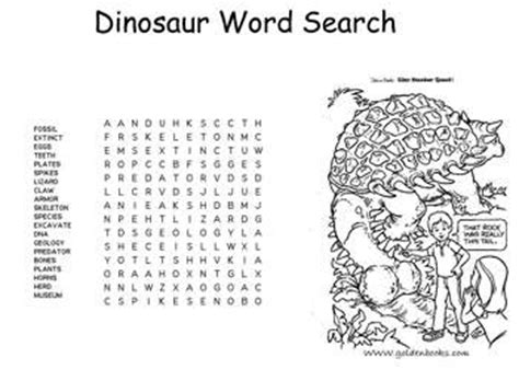 kaboose coloring pages free printable activities easy dinosaur word search