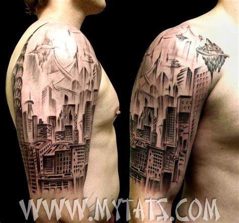 la skyline tattoo 35 impressive architecture tattoos tattoodo