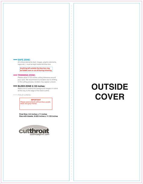5 panel brochure template cutthroat printcustom brochure printing
