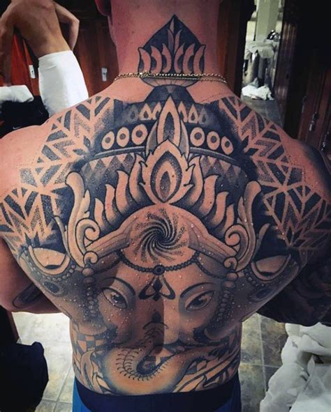 tattoo ganesha full back 90 ganesh tattoo designs for men hindu ink ideas