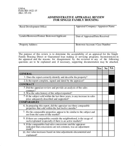 Commercial Appraisal Review Form 4002 8 Precautions You Commercial Appraisal Review Template