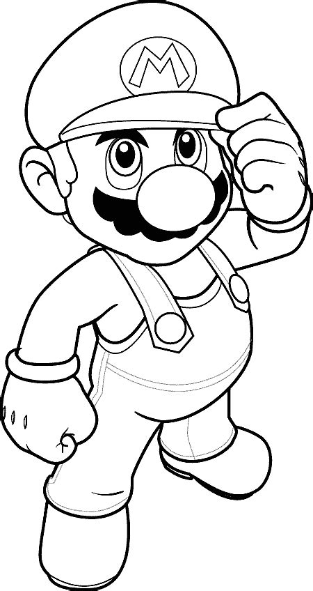 Coloring pages mega blog: Mario Bros coloring pages
