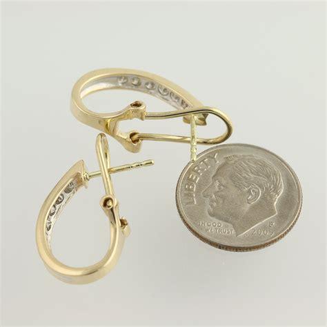 Hook Earrings j hook earrings 14k yellow gold pierced omega