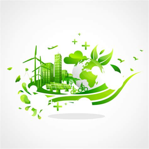 Creative ecology city background illustration 05   Vector