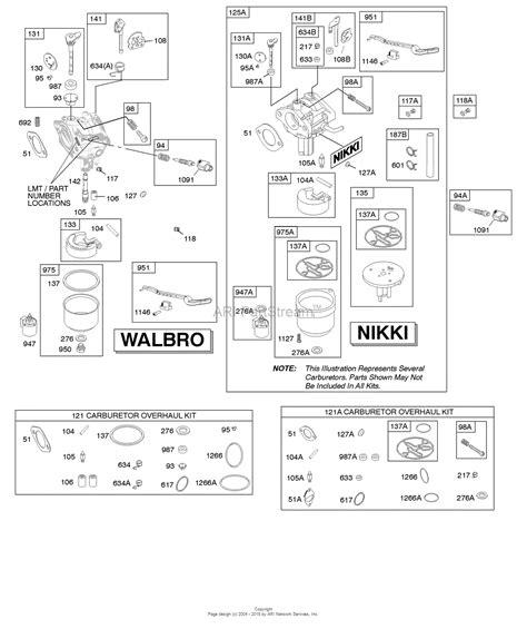 briggs and stratton carburetor diagram briggs and stratton 31c707 3346 g2 parts diagram for