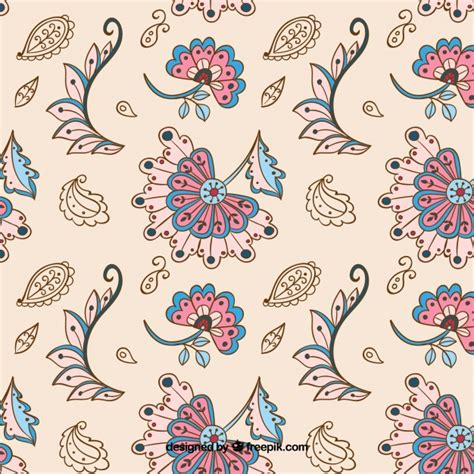batik pattern vector ai vintage batik pattern in beige vector free download