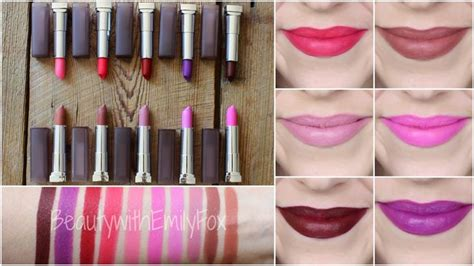 l shades on line new maybelline creamy matte lipstick shades lip swatches