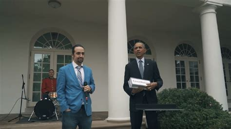 lin manuel miranda white house watch hamilton star lin manuel miranda freestyles at the white house wjla