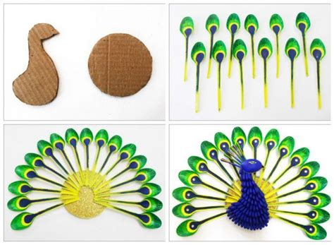 how to make wall decor at home diy home decor how to make beautiful peacock with plastic
