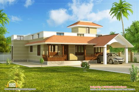 House Models And Plans Beautiful Single Story Kerala Model House 1395 Sq Ft