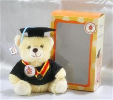 Boneka Wisuda Teddy M 35cm kabowi produsen boneka wisuda plakat souvenir graduation kado hadiah anniversary ultah