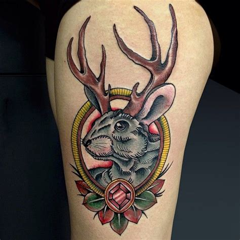 jackalope tattoo must get me a jackalope someday the of the