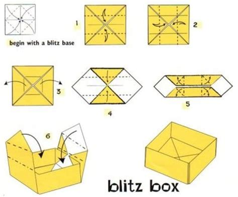Origami Box Step By Step - paper box step by step tutorial origami