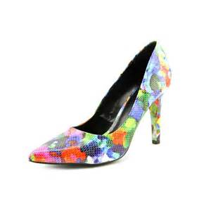 multi color heels nine west gwendle3 peep toe multi color heels heels