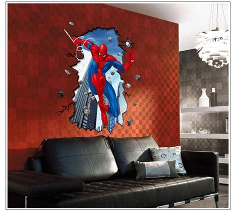 superhero wall decorations a superhero wall decor 3d super hero spider man mural wall sticker diy art vinyl
