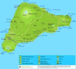 detailed easter island map map of rapa nui roads moai