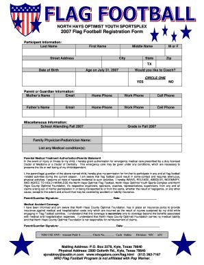 football registration form template sle football registration form fill printable