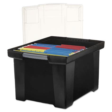plastic filing storage plastic file tote storage box letter legal snap on lid