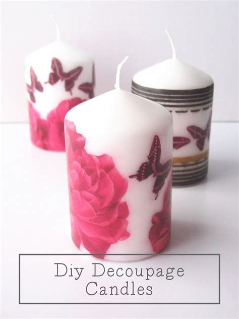 Diy Decoupage - best 25 diy decoupage candles ideas on diy