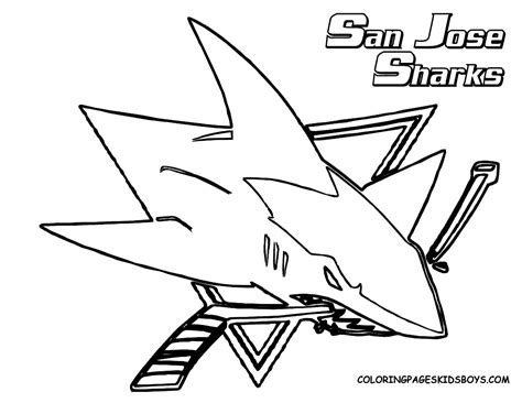 San Jose Sharks Coloring Pages san jose sharks free colouring pages