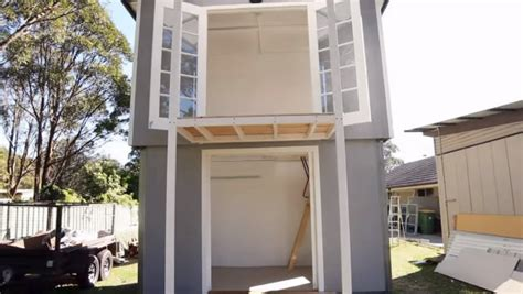 Pop Up Tiny House | modern tiny cabin and a two story pop up tiny house
