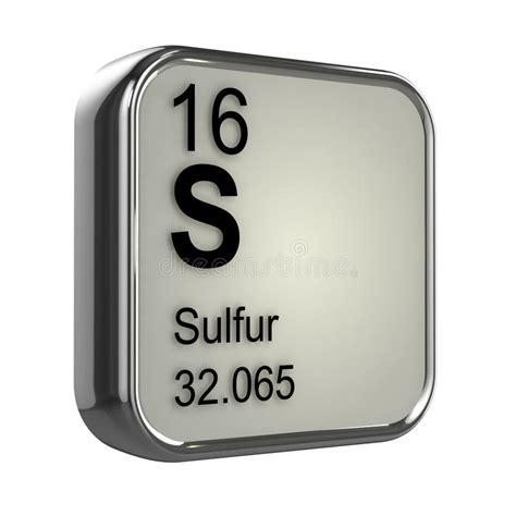 zolfo tavola periodica elemento dello zolfo 3d illustrazione di stock