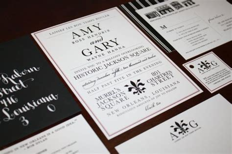 new orleans style wedding invitations wedding invitation destination new orleans jazz