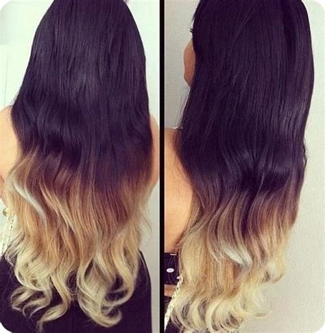 ombre colored hair extensions easy and best 10 dip dye ombre color hair ideas without
