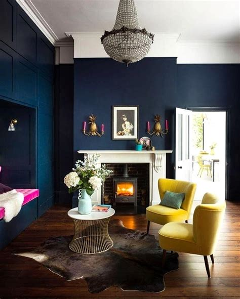 dark blue paint living room small living room dark blue modern home design ideas