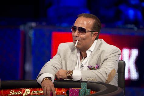 unlit cigarette catching   poker legend sammy farha