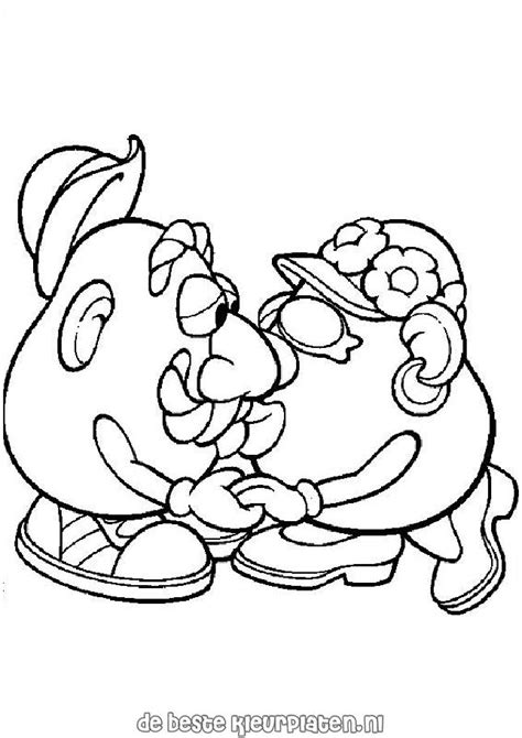 free potato head parts coloring pages