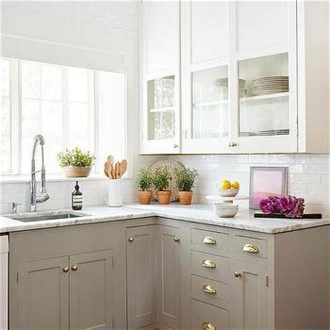 dove grey kitchen cabinets kitchens linear white glazed kitchen tiles design ideas