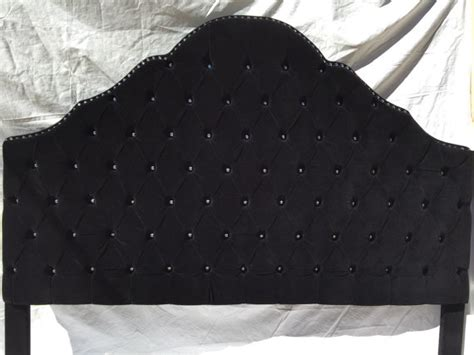 black tufted headboards items similar to black velvet king size tufted