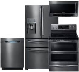 Piece Kitchen Appliance Package - samsung appliance sam4pcfsfd30efikit3 black stainless steel