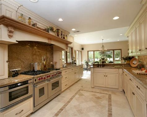 kitchen cabinets and flooring travertine floor white cabinets design pictures remodel