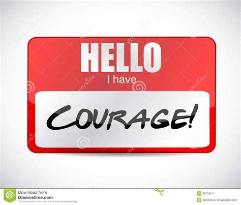 name tag background design courage name tag illustration design royalty free stock