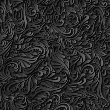 black pattern cdr floral seamless pattern vector free vector download