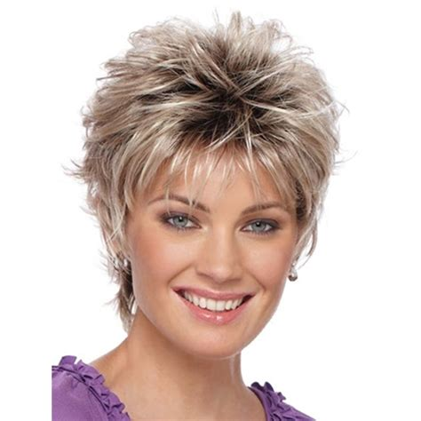 27 piece shag natural blonde mix wig short layered shag hairstyles high