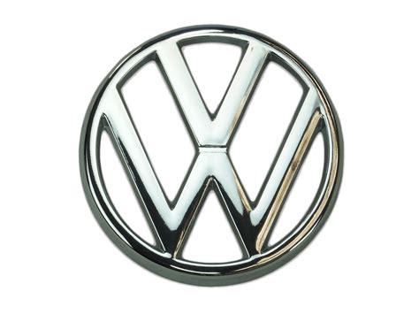 original volkswagen logo emblem vanagon front grille real oe vw gowesty