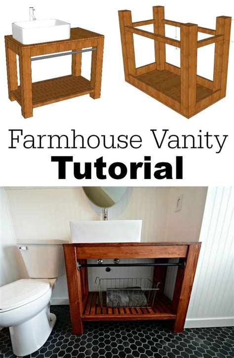 Build Your Own Bathroom Vanity Cabinet Modern Farmhouse Bathroom Farmhouse Bathrooms And Modern Farmhouse On Pinterest