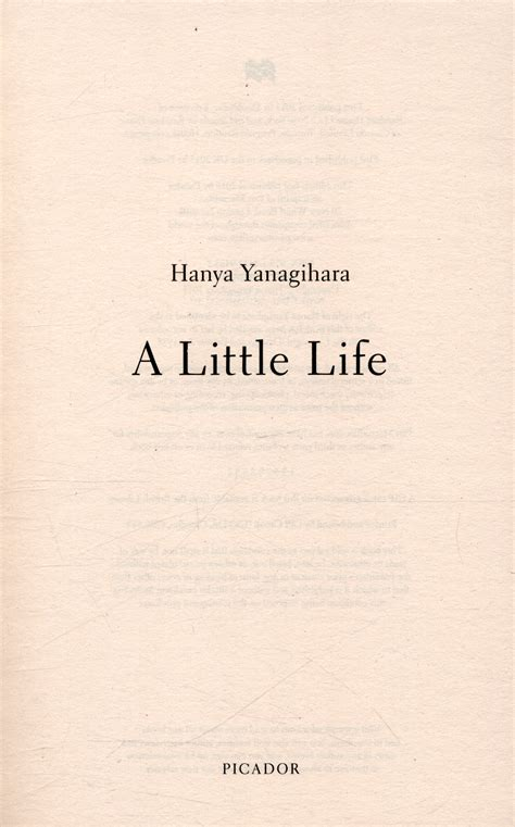 a little life by yanagihara hanya 9781447294832 brownsbfs