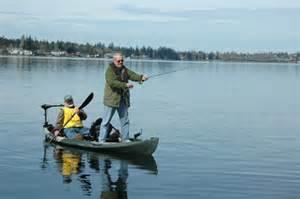 Person fishing kayak coastal kayak fishing boats