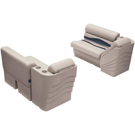 36 inch bench wise premier pontoon 36 quot bench and lean back seating group 612211 pontoon furniture