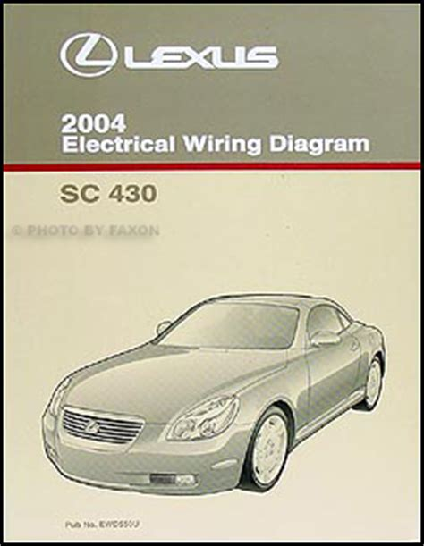 electric and cars manual 2004 lexus sc seat position control 2004 lexus sc 430 repair shop manual original 2 volume set
