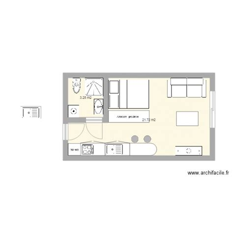 Amenagement Appartement 25 M2 by 25m2 Plan 2 Pi 232 Ces 25 M2 Dessin 233 Par Ced65370